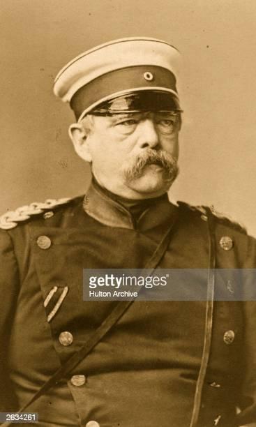 Otto Eduard Leopald von BismarckSchonhausen Prussian statesman and first Chancellor of the German Empire Original Artwork By Loescher Petsch