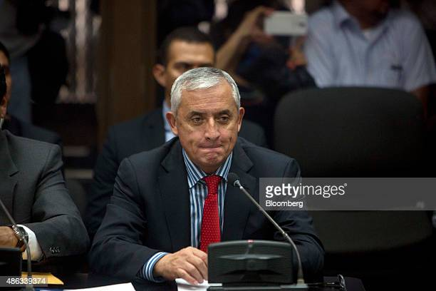 Otto Perez Molina Guatemala's president attends a court hearing to face corruption charges in Guatemala City Guatemala on Thursday Sept 3 2015 Perez...