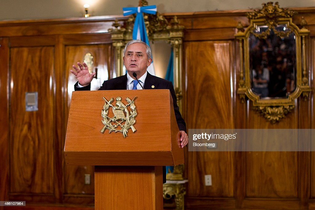 Otto Perez Molina Guatemala's president speaks during a news conference in Guatemala City Guatemala on Monday Aug 31 2015 Molina says he feels...