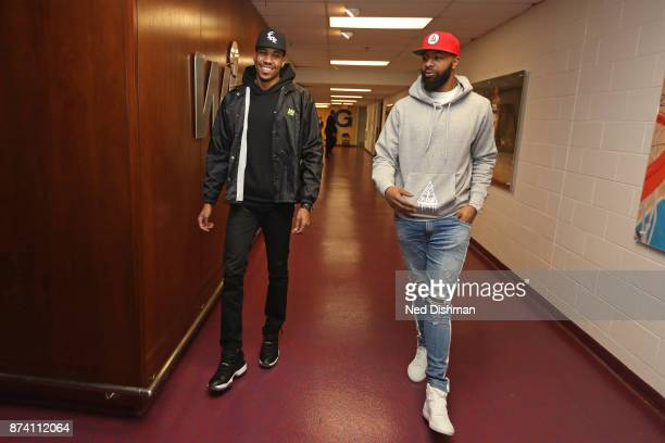 Otto Porter Jr #22 and Markieff Morris of the Washington Wizards arrives at the arena before the game against the Atlanta Hawks on November 11 2017...