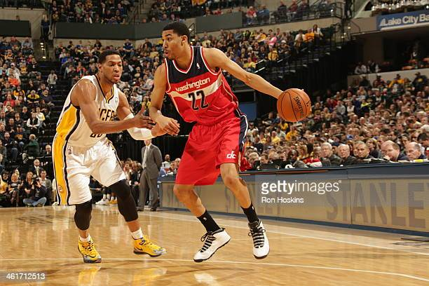 Otto Porter Jr #22 of the Washington Wizards drives against the Indiana Pacers at Bankers Life Fieldhouse on January 10 2014 in Indianapolis Indiana...