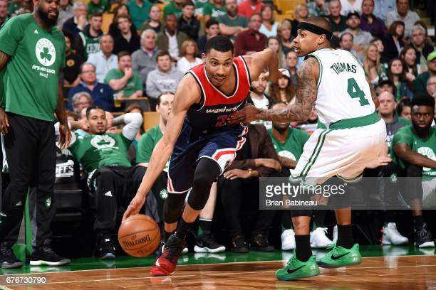 Otto Porter Jr #22 of the Washington Wizards drives to the basket during the game against the Boston Celtics during Game Two of the Eastern...