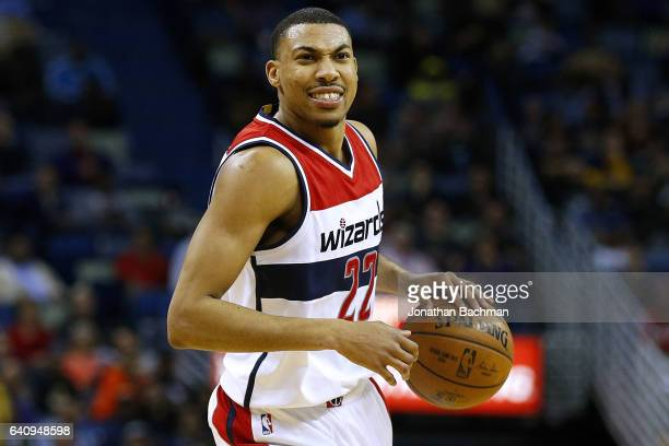 Otto Porter Jr #22 of the Washington Wizards drives with the ball during the second half of a game against the New Orleans Pelicans at the Smoothie...
