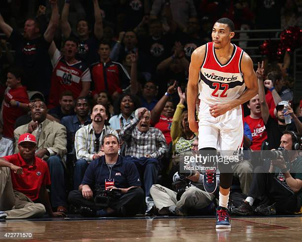 Otto Porter Jr #22 of the Washington Wizards during the game against the Atlanta Hawks in Game Three of the Eastern Conference Semifinals of the 2015...