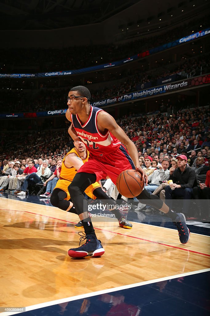 <a gi-track='captionPersonalityLinkClicked' href=/galleries/search?phrase=Otto+Porter+Jr.&family=editorial&specificpeople=10019906 ng-click='$event.stopPropagation()'>Otto Porter Jr.</a> #22 of the Washington Wizards handles the ball against the Cleveland Cavaliers during the game on November 21, 2014 at Verizon Center in Washington, DC.