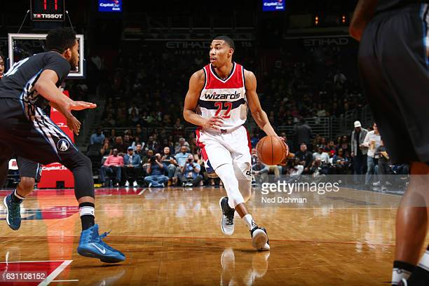 Otto Porter Jr #22 of the Washington Wizards handles the ball against the Minnesota Timberwolves during the game on January 6 2017 at Verizon Center...