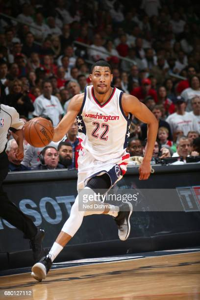 Otto Porter Jr #22 of the Washington Wizards handles the ball against the Boston Celtics in Game Four of the Eastern Conference Semifinals of the...