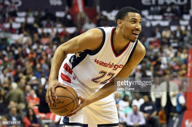 Otto Porter Jr #22 of the Washington Wizards handles the ball against the Boston Celtics in Game Three of the Eastern Conference Semifinals at...