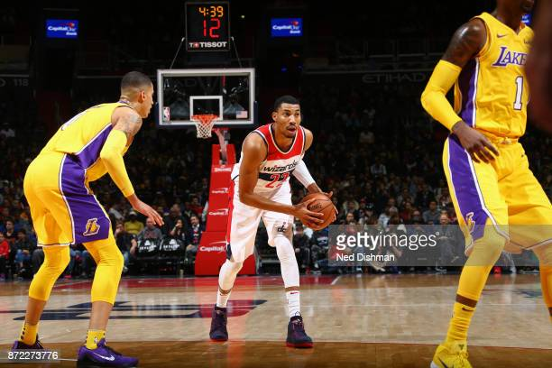 Otto Porter Jr #22 of the Washington Wizards handles the ball against the Los Angeles Lakers on November 9 2017 at Capital One Arena in Washington DC...