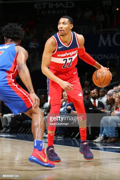 Otto Porter Jr #22 of the Washington Wizards handles the ball against the Detroit Pistons on December 1 2017 at Capital One Arena in Washington DC...