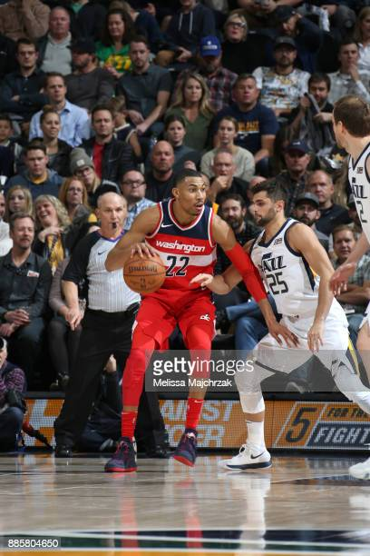 Otto Porter Jr #22 of the Washington Wizards handles the ball against the Utah Jazz on December 4 2017 at Vivint Smart Home Arena in Salt Lake City...