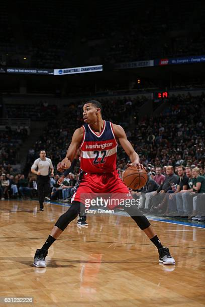 Otto Porter Jr #22 of the Washington Wizards handles the ball during a game against the Milwaukee Bucks on January 8 2017 at the BMO Harris Bradley...