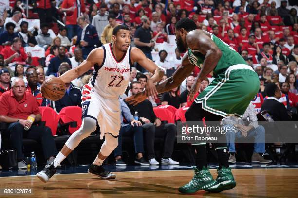 Otto Porter Jr #22 of the Washington Wizards handles the ball during the game against the Boston Celtics during Game Four of the Eastern Conference...