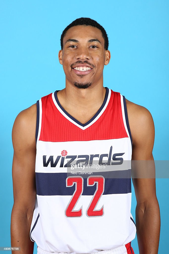 <a gi-track='captionPersonalityLinkClicked' href=/galleries/search?phrase=Otto+Porter+Jr.&family=editorial&specificpeople=10019906 ng-click='$event.stopPropagation()'>Otto Porter Jr.</a> #22 of the Washington Wizards poses for a photo during 2015 media day at the Verizon Center on May 18, 2015 in Washington D.C.