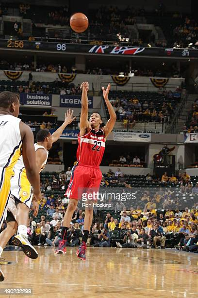 Otto Porter Jr #22 of the Washington Wizards shoots against the Indiana Pacers in Game Five of the Eastern Conference SemiFinals during the 2014 NBA...