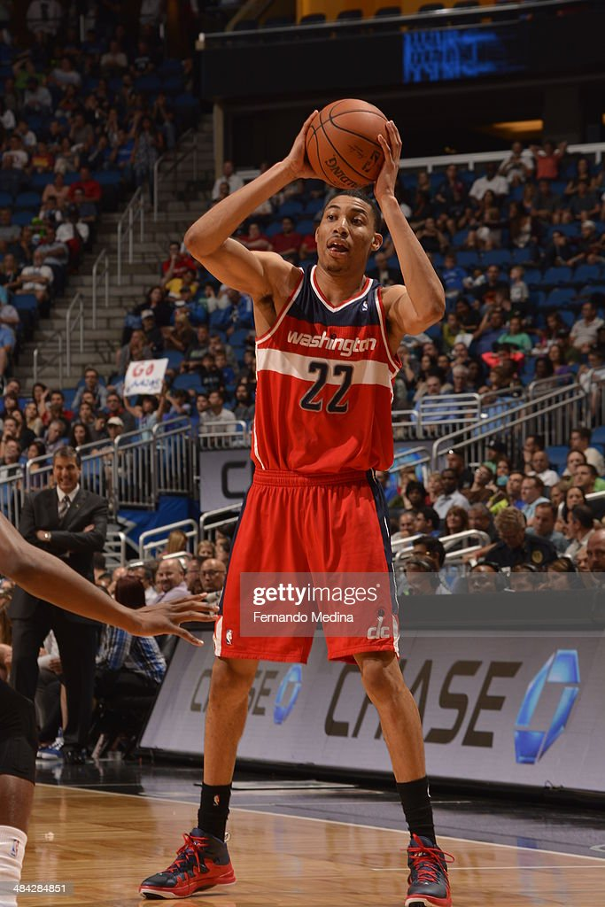 <a gi-track='captionPersonalityLinkClicked' href=/galleries/search?phrase=Otto+Porter+Jr.&family=editorial&specificpeople=10019906 ng-click='$event.stopPropagation()'>Otto Porter Jr.</a> #22 of the Washington Wizards shoots the ball against the Orlando Magic during the game on April 11, 2014 at Amway Center in Orlando, Florida.