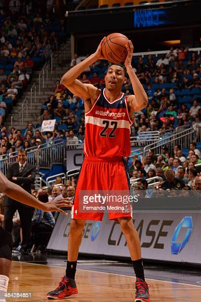Otto Porter Jr #22 of the Washington Wizards shoots the ball against the Orlando Magic during the game on April 11 2014 at Amway Center in Orlando...
