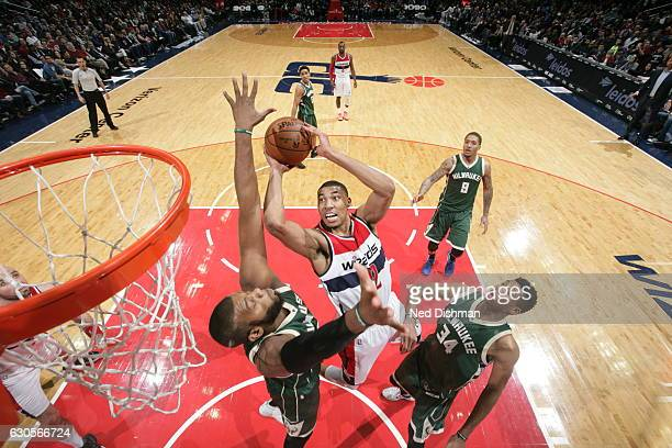 Otto Porter Jr #22 of the Washington Wizards shoots the ball against the Milwaukee Bucks during the game on December 26 2016 at Verizon Center in...