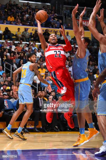 Otto Porter Jr #22 of the Washington Wizards shoots the ball against the Los Angeles Lakers on October 25 2017 at STAPLES Center in Los Angeles...
