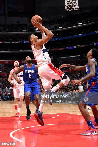 Otto Porter Jr #22 of the Washington Wizards shoots the ball during the game against the LA Clippers on December 9 2017 at STAPLES Center in Los...