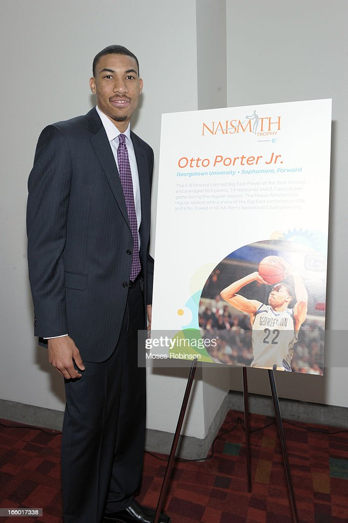 Otto Porter Jr. of the Georgetown Hoyas attends the NABC Guardians of the Game Awarding of the Naismith Trophy Presented by AT&T at Georgia World Congress Center on April 7, 2013 in Atlanta, Georgia.