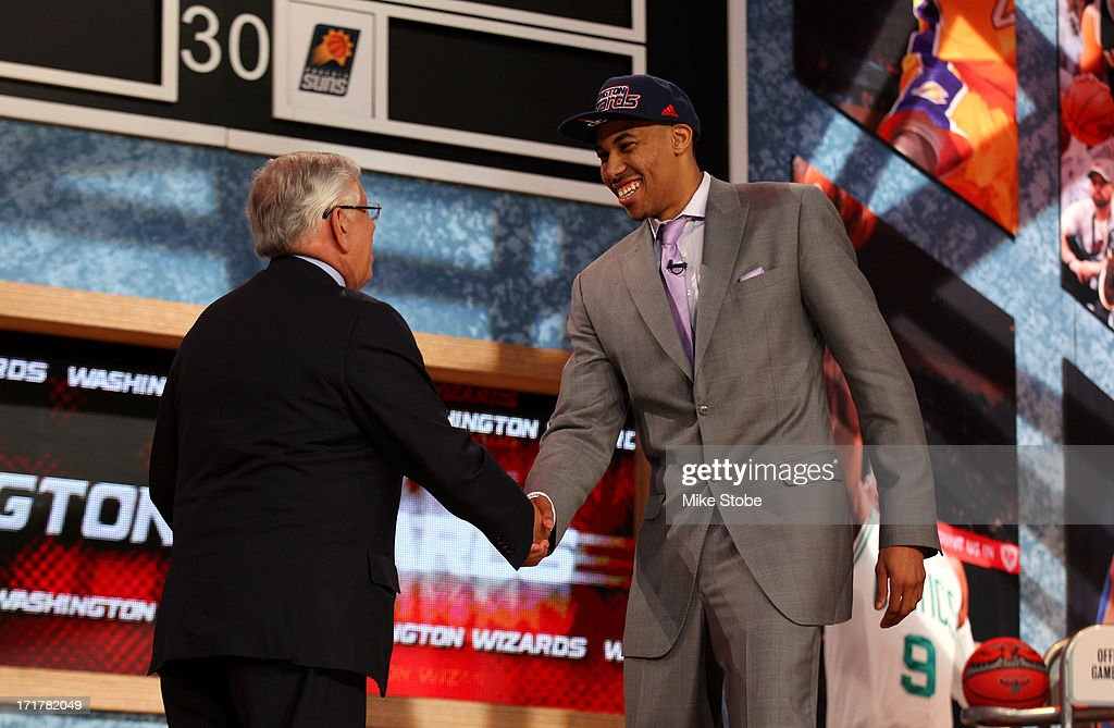 Otto Porter (R) of Georgetown greets NBA Commissioner David Stern after Porter was drafted #3 overall in the first round by the Washington Wizards during the 2013 NBA Draft at Barclays Center on June 27, 2013 in in the Brooklyn Borough of New York City.