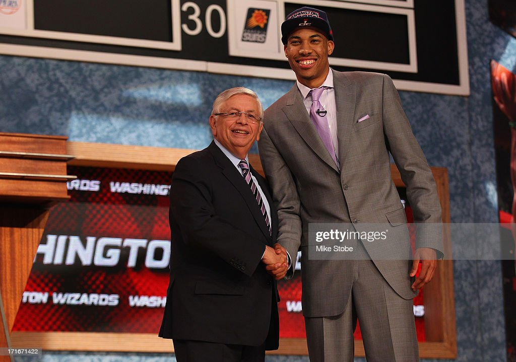 Otto Porter (R) of Georgetown poses for a photo with NBA Commissioner <a gi-track='captionPersonalityLinkClicked' href=/galleries/search?phrase=David+Stern&family=editorial&specificpeople=206848 ng-click='$event.stopPropagation()'>David Stern</a> after Porter was drafted #3 overall in the first round by the Washington Wizards during the 2013 NBA Draft at Barclays Center on June 27, 2013 in in the Brooklyn Borough of New York City.
