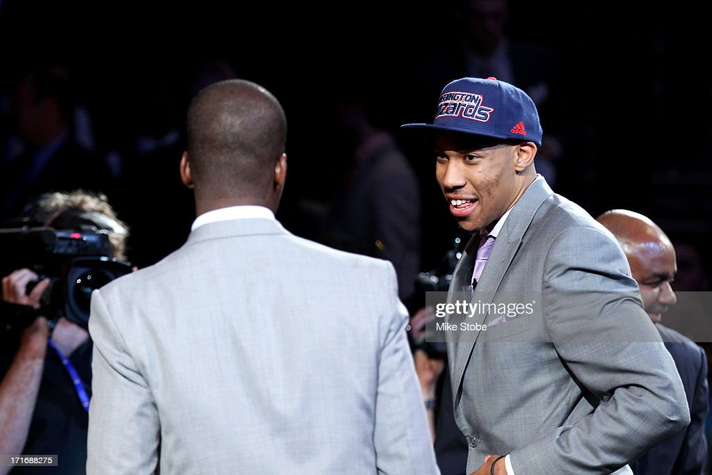 Otto Porter of Georgetown reacts in the green room after he was drafted #3 overall in the first round by the Washington Wizards during the 2013 NBA Draft at Barclays Center on June 27, 2013 in in the Brooklyn Bourough of New York City.