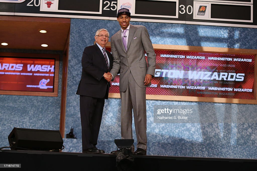 Otto Porter shakes hands with NBA Commissioner, David Stern after being selected number three overall by the Washington Wizards during the 2013 NBA Draft on June 27, 2013 at Barclays Center in Brooklyn, New York.