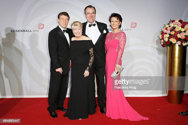 Otto Rehagel Beate Rehagel Clemens Toennies and Margit Toennies attend the Rosenball 2014 on May 31 2014 in Berlin Germany