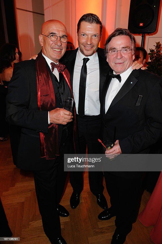 Otto Retzer ,Hardy Krueger Jr. and Elmar Wepper attend the 'Romy Award 2013 - Afterparty' at Hofburg Vienna on April 20, 2013 in Vienna, Austria.