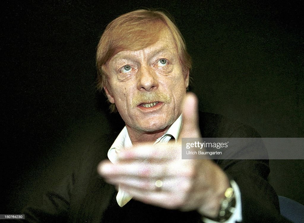 Otto SANDER, actor, reciter and narrator, Book fair 2001. - otto-sander-actor-reciter-and-narrator-book-fair-2001-picture-id150764230