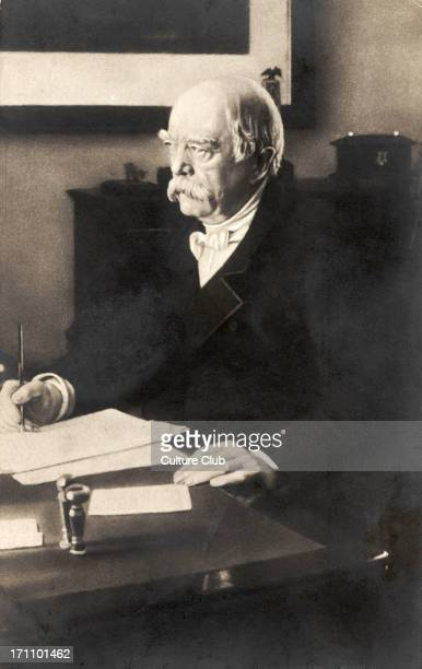 Otto von Bismarck at his desk Prussian politician 18151898 Became leader of Germany after unification