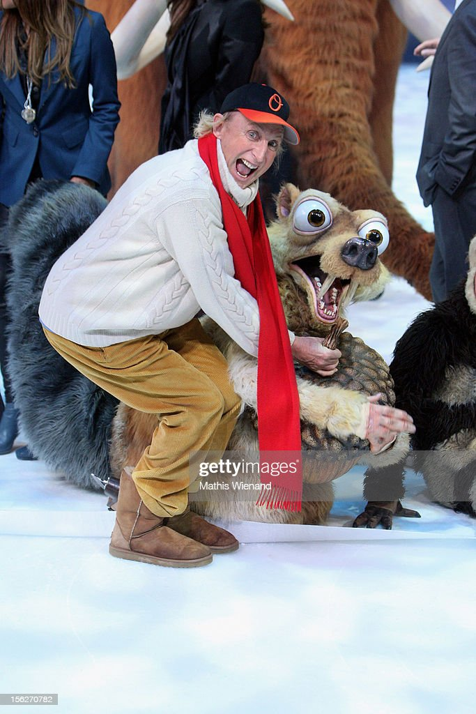 <a gi-track='captionPersonalityLinkClicked' href=/galleries/search?phrase=Otto+Waalkes&family=editorial&specificpeople=584335 ng-click='$event.stopPropagation()'>Otto Waalkes</a> attends the Ice Age Live! gala premiere at ISS Dome on November 12, 2012 in Duesseldorf, Germany.