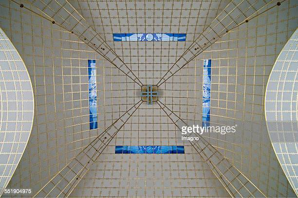 Otto Wagner Church 'stLeopold ' Steinhof View of the dome with blue glass windows Photograph by Urs Schweitzer 2009