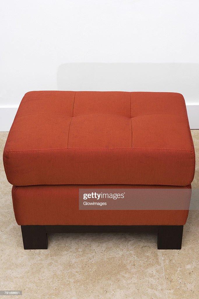 Ottoman in a living room : Foto de stock