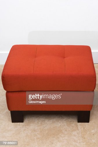Ottoman in a living room : Stock Photo