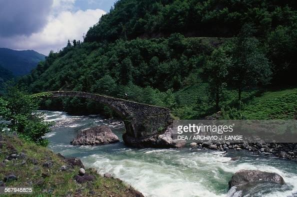 Ottoman stonybridge near Ayder Black Sea region Turkey