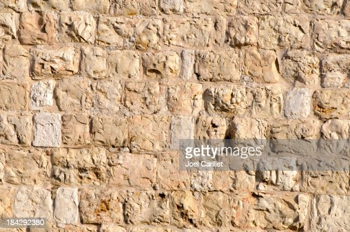 Ottoman-era stone wall surrounding the Old City of Jerusalem