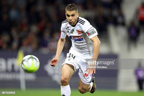 Oualid El Hajjam of Amiens during the Ligue 1 match between Toulouse and Amiens SC at Stadium Municipal on October 14 2017 in Toulouse