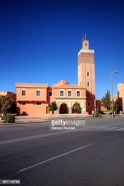 Ouarzazate new mosque and empty street
