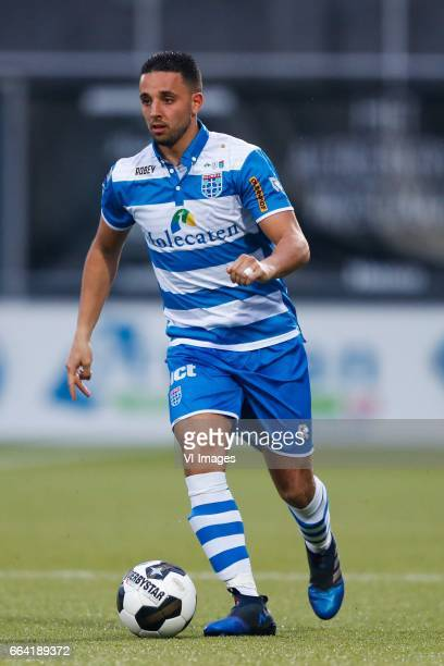 Ouasim Bouy of PEC Zwolleduring the Dutch Eredivisie match between PEC Zwolle and bv Excelsior Rotterdam at the MAC3Park stadium on April 01 2017 in...