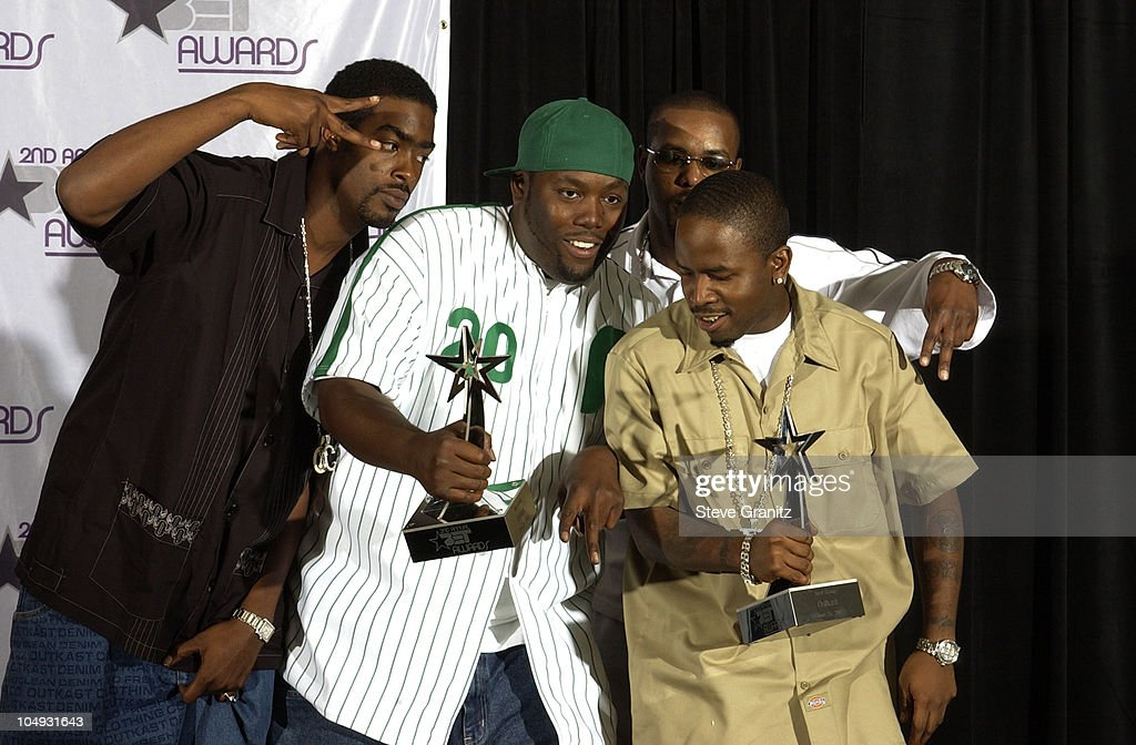 Oukast winners for Best Group during The 2nd Annual BET Awards Press Room at The Kodak Theater in Hollywood California United States