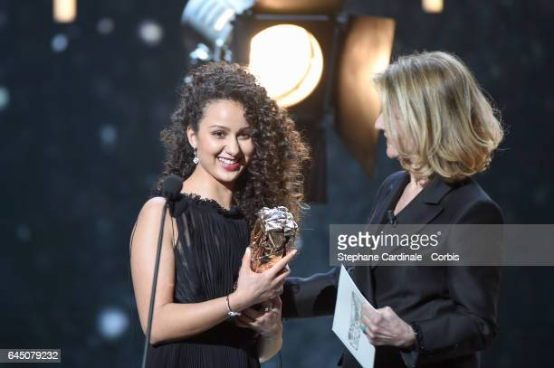 Oulaya Amamra and Nicole Garcia during the Cesar Film Awards 2017 ceremony at Salle Pleyel on February 24 2017 in Paris France