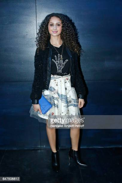 Oulaya Amamra attends the Christian Dior show as part of the Paris Fashion Week Womenswear Fall/Winter 2017/2018 on March 3 2017 in Paris France