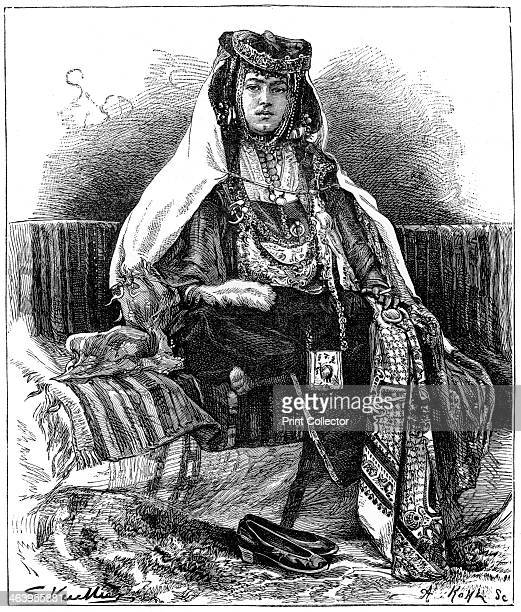 Ouled Nail dancer Algeria c1890 Illustration from The Universal Geography with Illustrations and Maps Division XXI