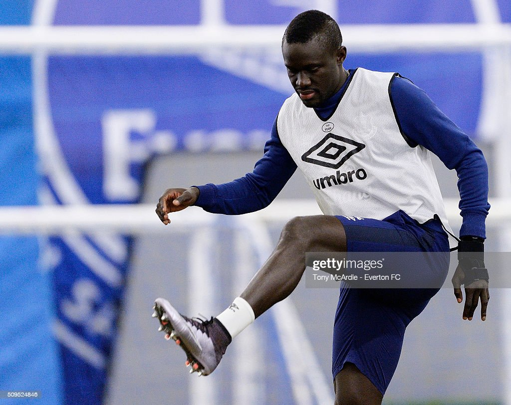 Oumar Niasse during the Everton training session at Finch Farm on February 11, 2016 in Halewood, England.