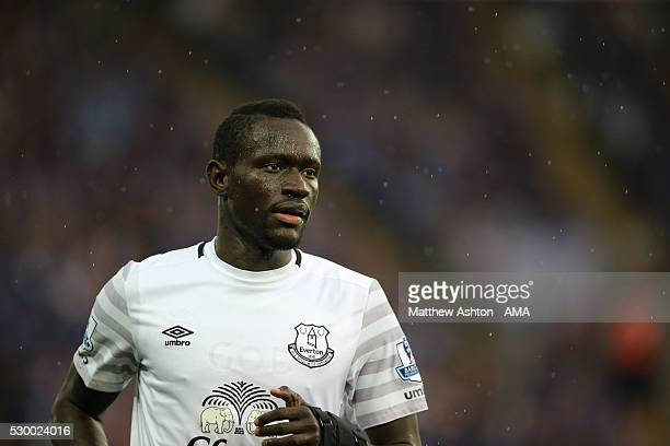 Oumar Niasse of Everton during the Barclays Premier League match between Leicester City and Everton at The King Power Stadium on May 7 2016 in...