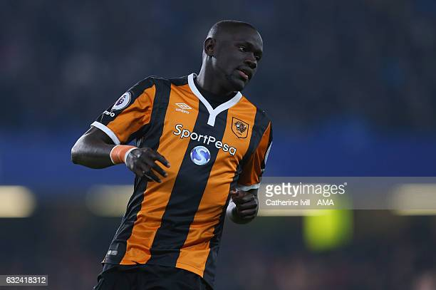 Oumar Niasse of Hull City during the Premier League match between Chelsea and Hull City at Stamford Bridge on January 22 2017 in London England