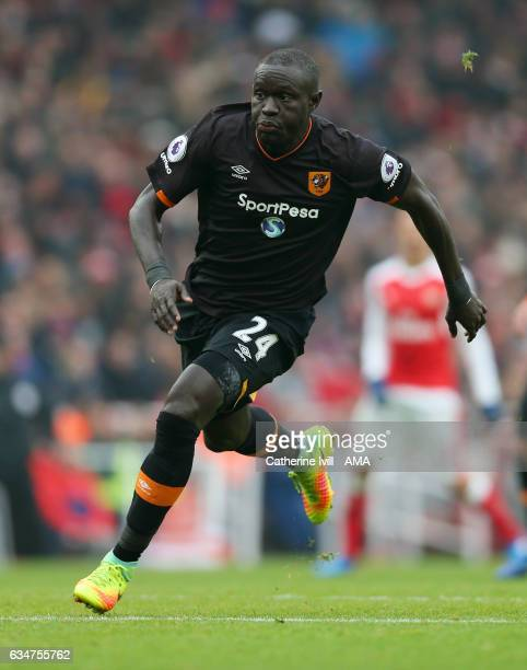 Oumar Niasse of Hull City during the Premier League match between Arsenal and Hull City at Emirates Stadium on February 11 2017 in London England